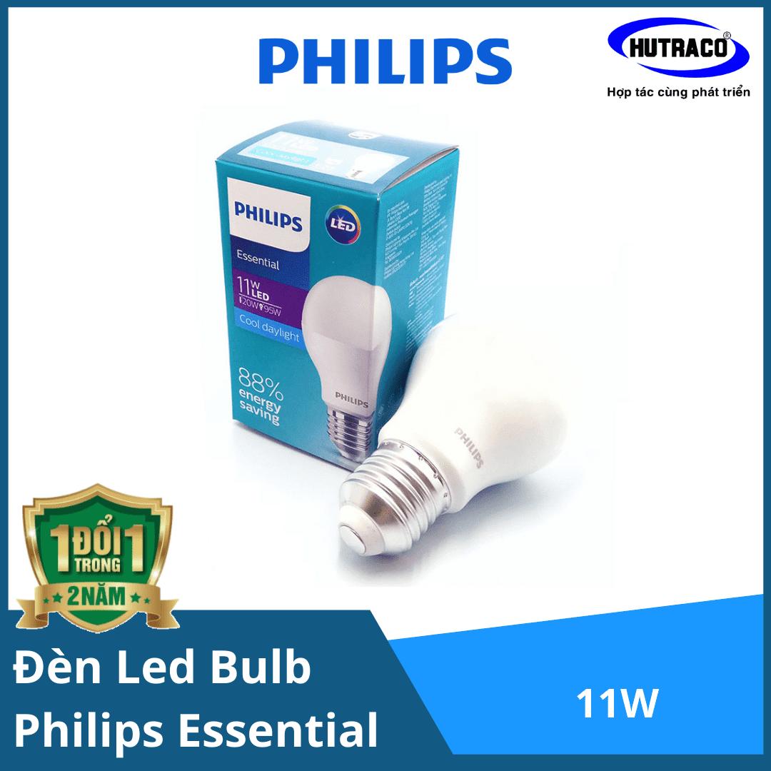 Bóng đèn Led Bulb Philips Essential 11W E27 6500K 230V A60 APR - Ánh sáng chất lượng, êm dịu cho mắt