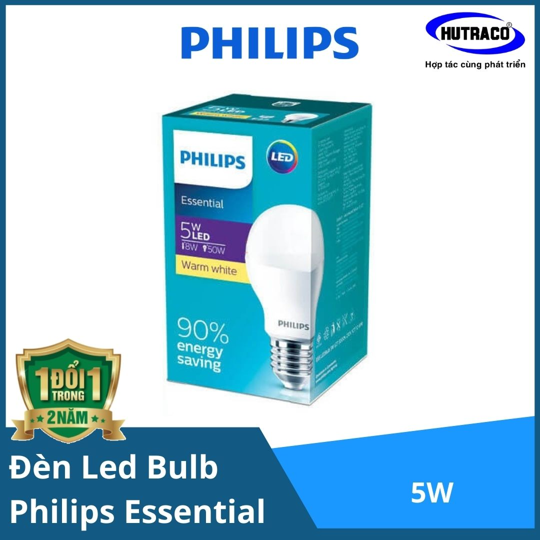 Combo 12 Bóng đèn Led Bulb Essential Philips 5W E27 A60