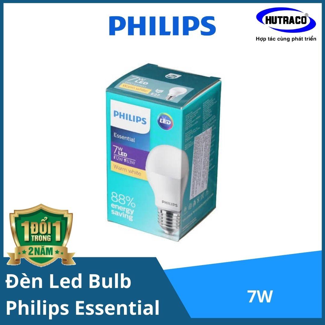 Combo 12 Bóng đèn Led Bulb Essential Philips 7W E27 A60 APR