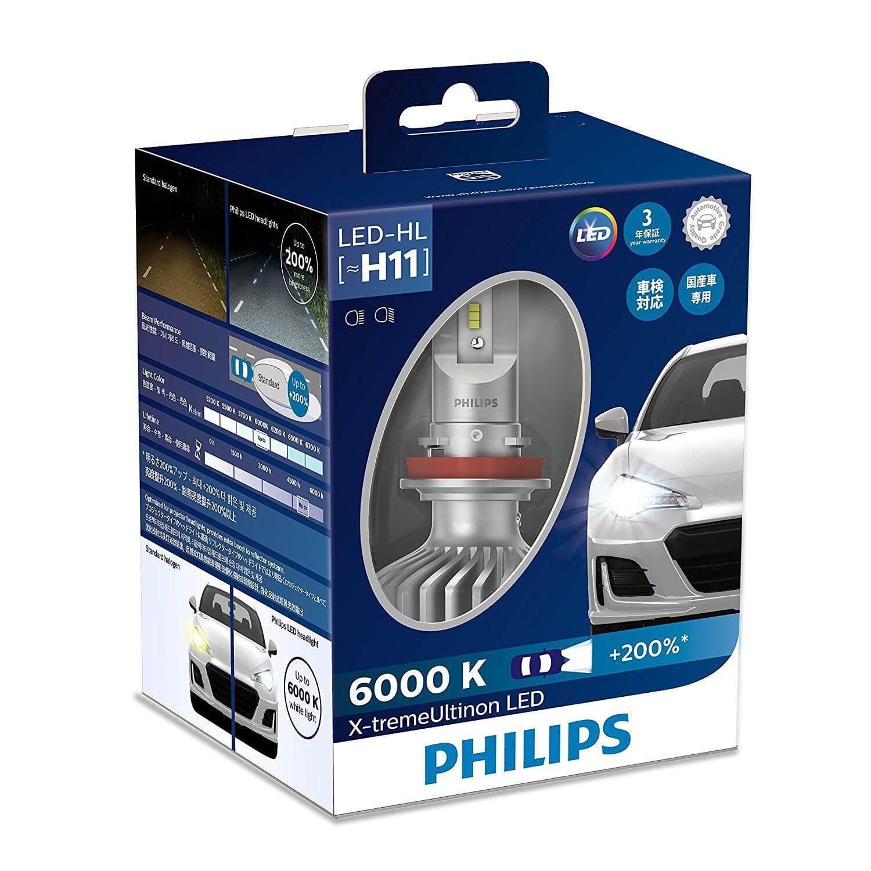 H11 LED 11362- Bóng đèn pha Led xe ô tô/ xe hơi Philips X-tremeUltinon H11 LED 11362 6000K + 200%