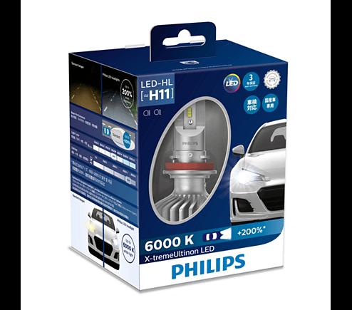 LED H11 11362- Bóng đèn pha Led xe ô tô/ xe hơi Philips X-tremeUltinon LED H11 11362 6000K