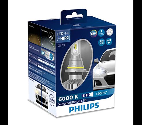 HIR2 LED 11012 - Bóng đèn pha Led xe ô tô/ xe hơi Philips X-tremeUltinon HIR2 LED 11012 6000K + 200%