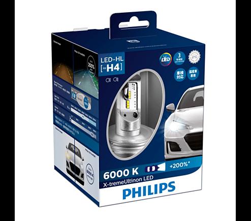 H4 LED 12953- Bóng đèn pha Led xe hơi xe ô tô Philips X-treme Ultinon H4 LED 12953 6000K + 200%