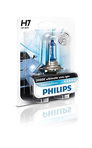 H7 12972 DV - Cặp bóng đèn pha xe ôtô xe hơi Philips Halogen H7 12972 DV 12V 55W PX26D S2 ánh sáng trắng, độ sáng 5000K