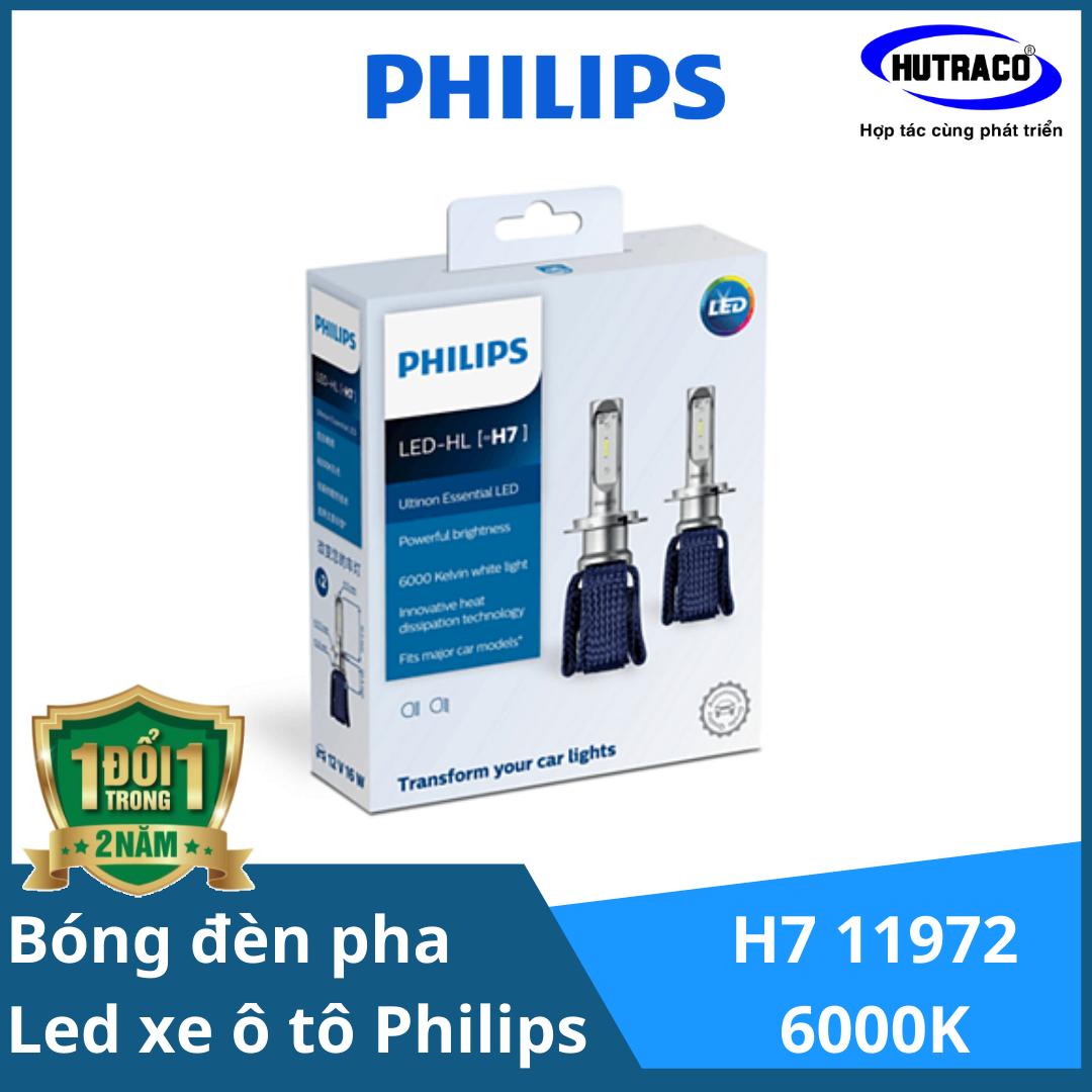 LED H7 11972- Bóng đèn pha Led xe ô tô/ xe hơi Philips Ultinon Essential LED H7 11972 6000K