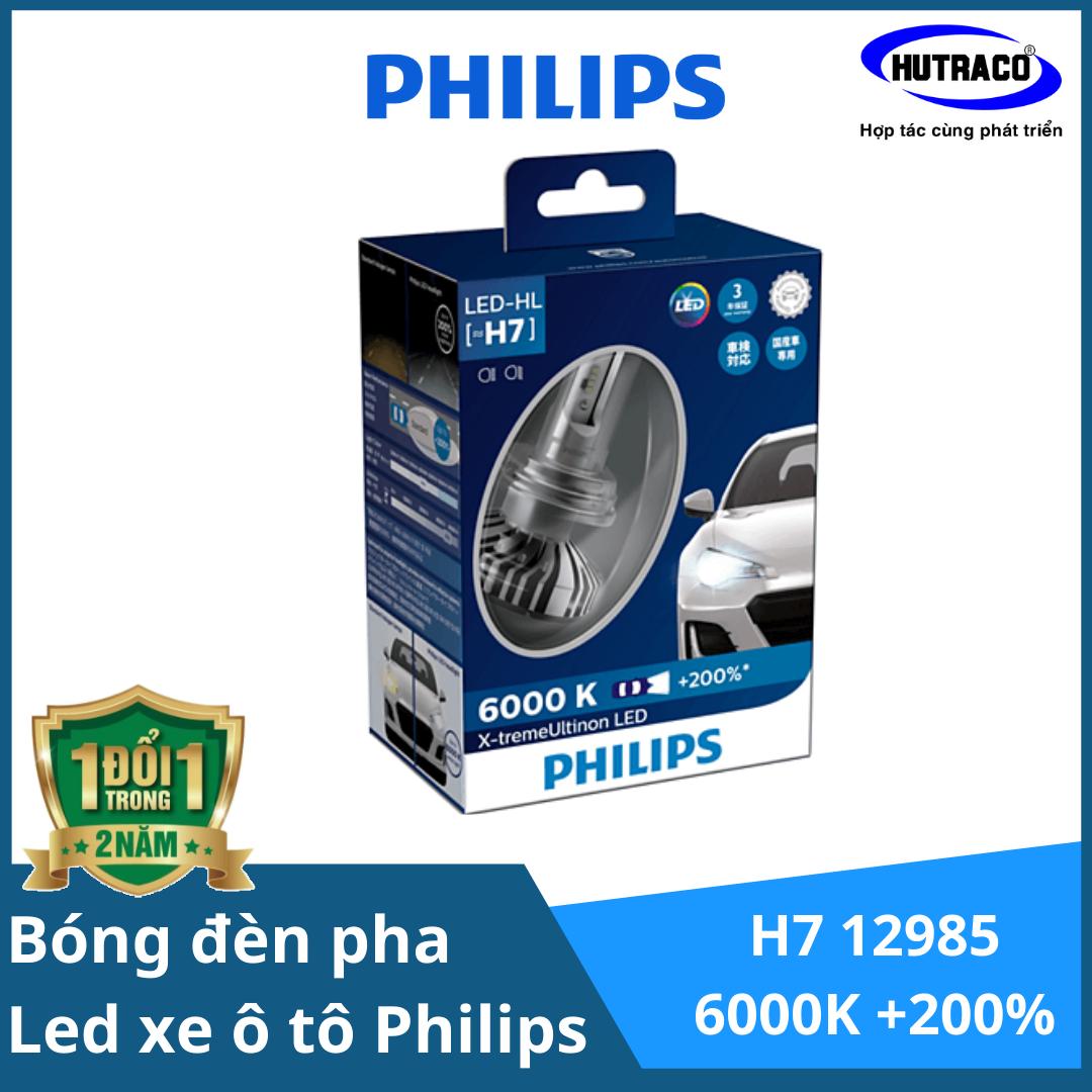 H7 LED 12985-Bóng đèn pha Led xe ô tô/ xe hơi Philips X-tremeUltinon H7 LED  12985 6000K + 200%