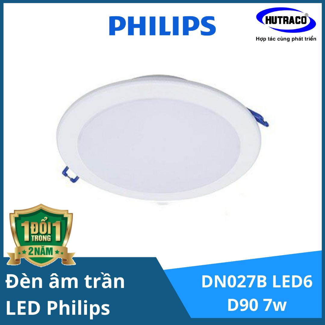 Bộ đèn downlight âm trần LED Philips DN027B LED6 D90 RD 7W