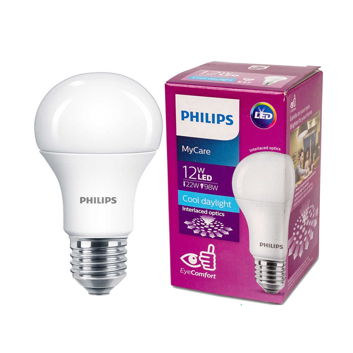 Bóng đèn Led Bulb Philips My Care 12W  3000K E27 230V A60