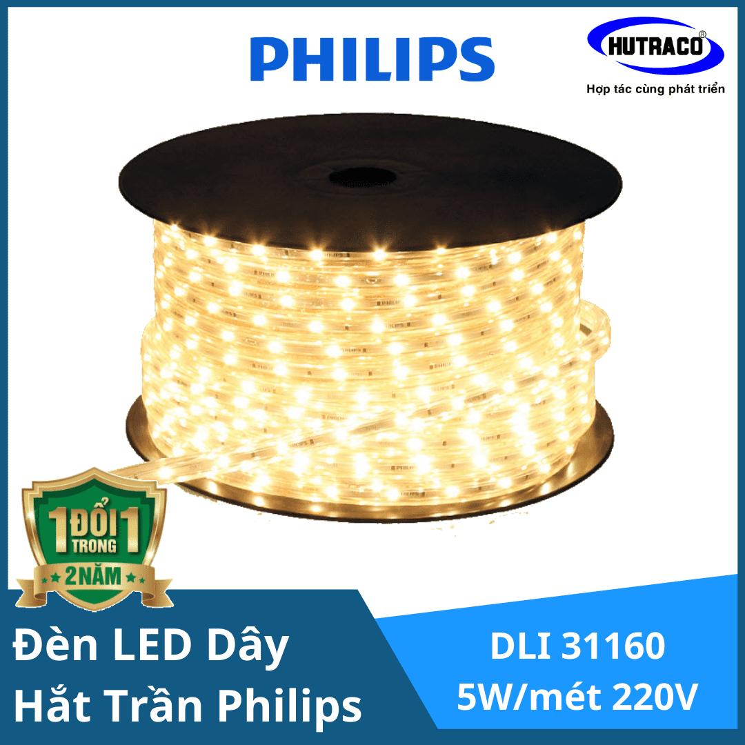 Đèn LED dây chiếu sáng hắt trần trang trí Philips DLI 31160 5W/mét 220V Cuộn 50 mét