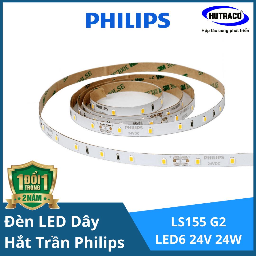 Đèn LED dây chiếu sáng hắt trần trang trí Philips LS155 G2 LED6 L5000 24V 24W/Cuộn