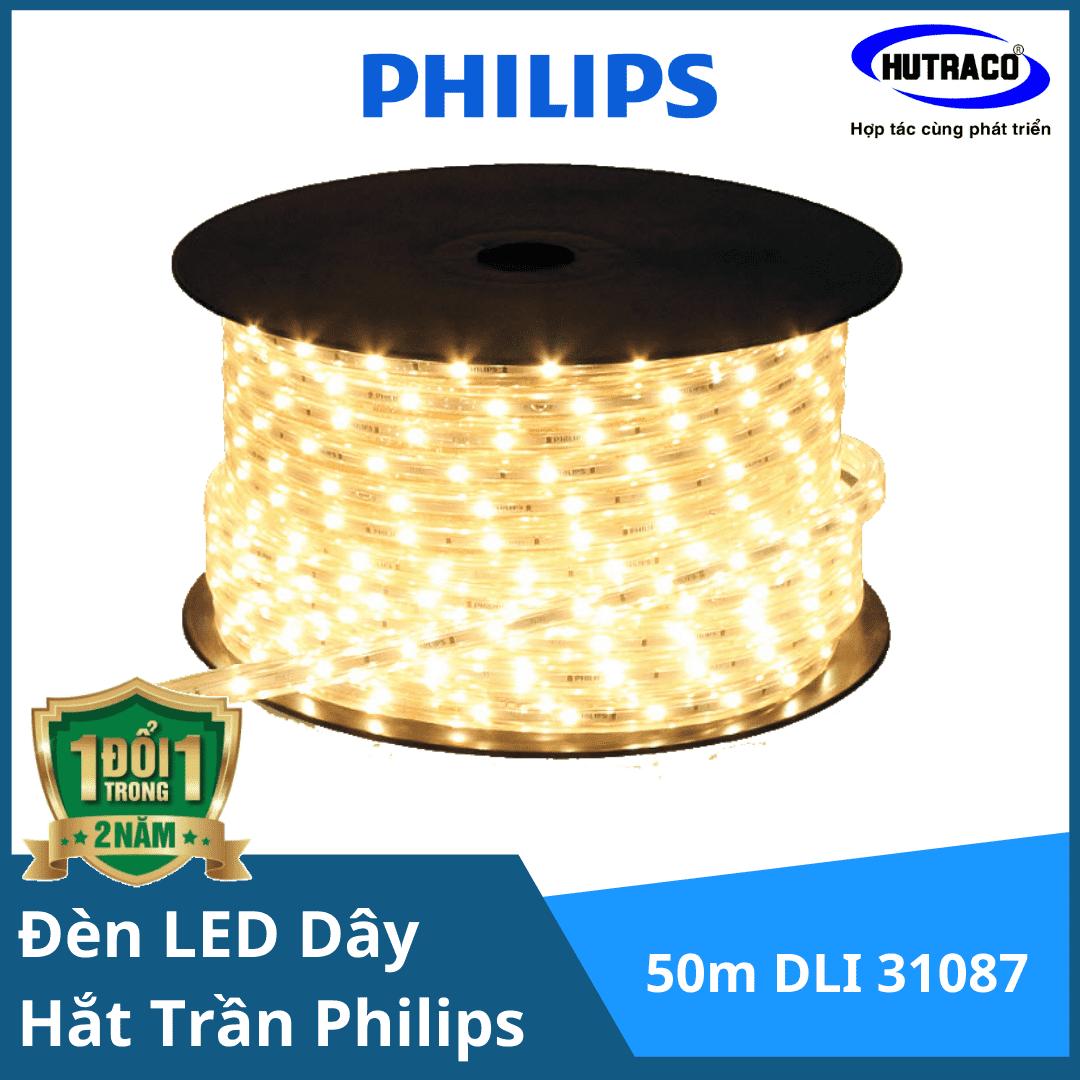Đèn Led dây Philips chiếu sáng hắt trần Trade HV Tape (LED dây 220V) 50m DLI 31087 HV LED TAPE 6500K HL White