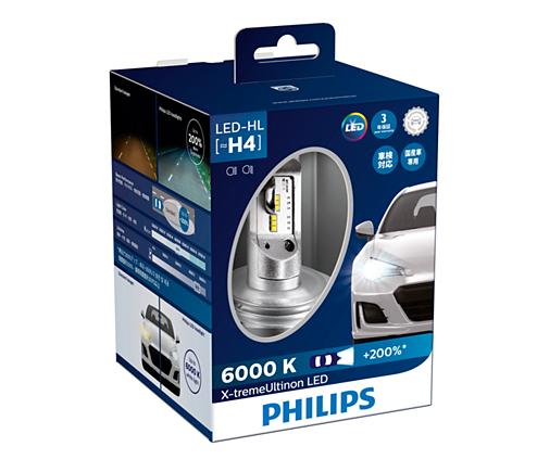 HB3/4 LED 11005- Bóng đèn pha Led xe ô tô/ xe hơi Philips X-tremeUltinon HB3/4 LED 11005 6000K + 200%