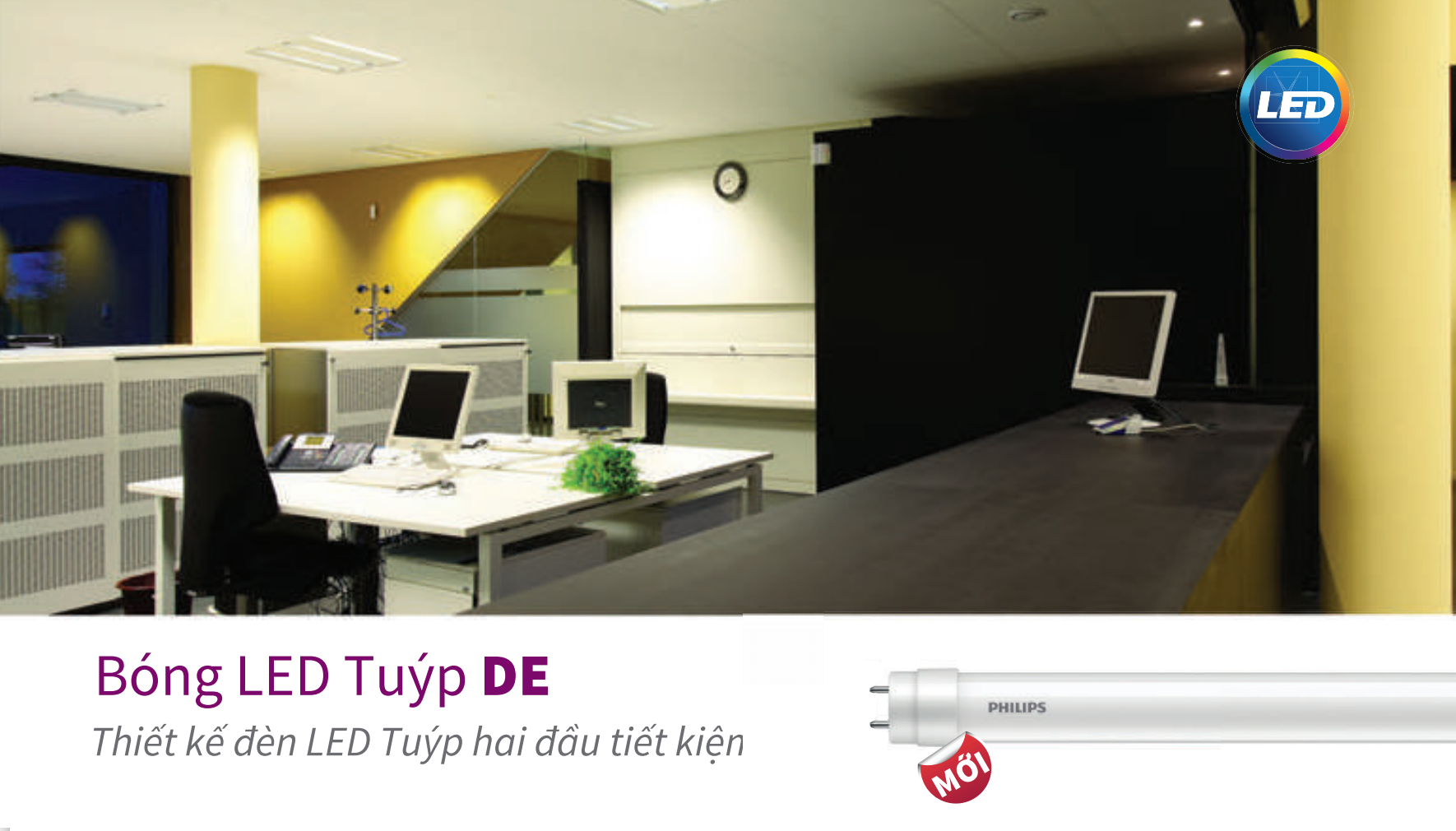 Bóng Đèn LED Tuýp Philips LED TUBE DE 600MM 9w