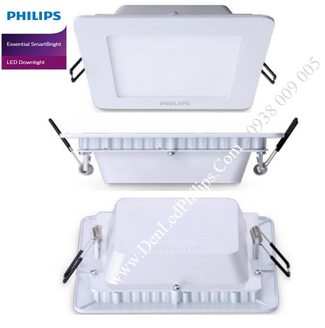 Bộ đèn downlight âm trần VUÔNG LED Philips DN024B LED6/CW D125 SQR 11W