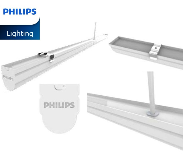 Bộ máng đèn LED Batten T8 Philips BN012C LED20/NW L1200 TH G2,  1.2m