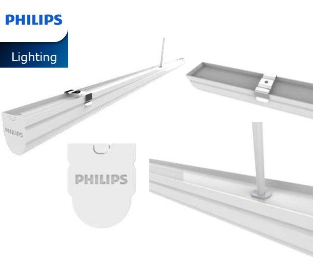 Bộ máng đèn LED Batten T8 Philips BN012C LED20/WW L1200 TH G2,  1.2m
