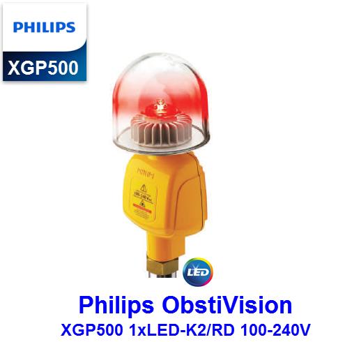 Đèn Cảnh Báo Hàng Không Philips ObstiVision XGP500 1xLED-K2/RD 100-240V