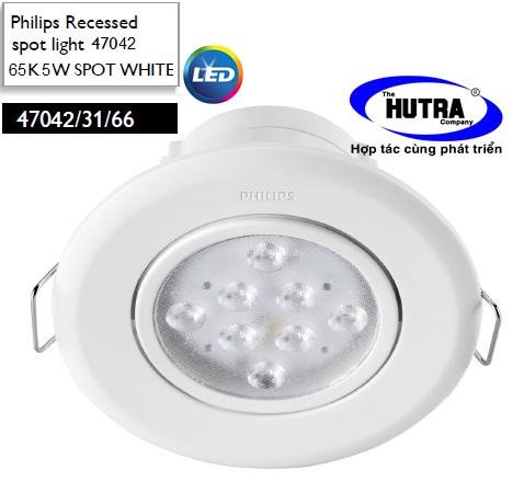 Đèn Downlight âm trần Led Spot light Philips 47040 chiếu sáng điểm 5W SPOT WHITE recessed