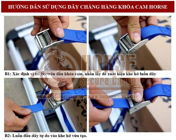 Cách sử dụng dây chằng hàng khóa cam