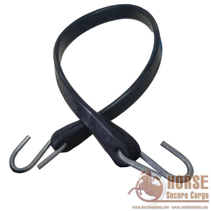 Dây thun chằng hàng cao su 60cm móc thép - Rubber bungee cord
