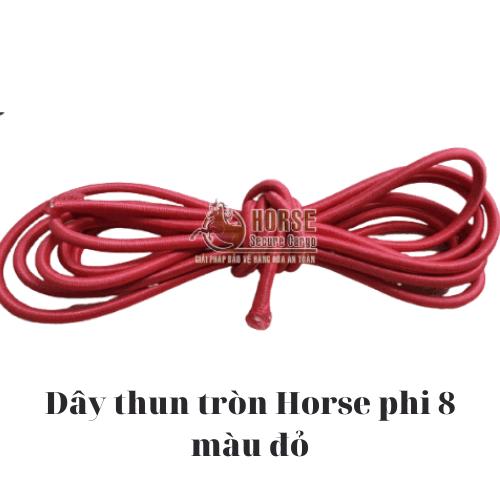 Dây thun tròn Horse màu đỏ phi 8 - Horse Secure Cargo