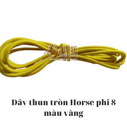 Dây thun tròn Horse màu vàng phi 8 - Horse Secure Cargo