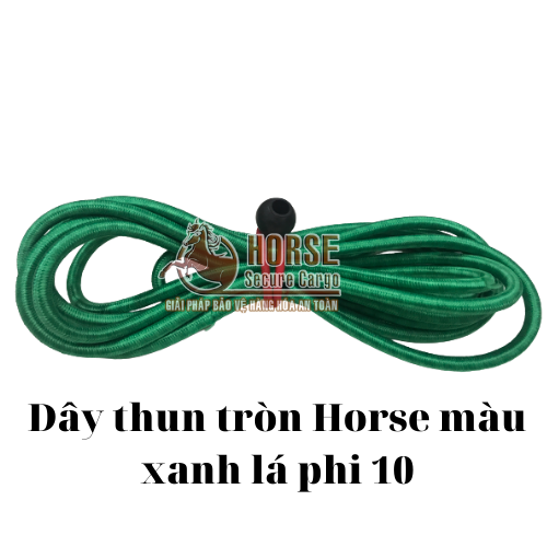 Dây thun tròn Horse màu xanh lá phi 10