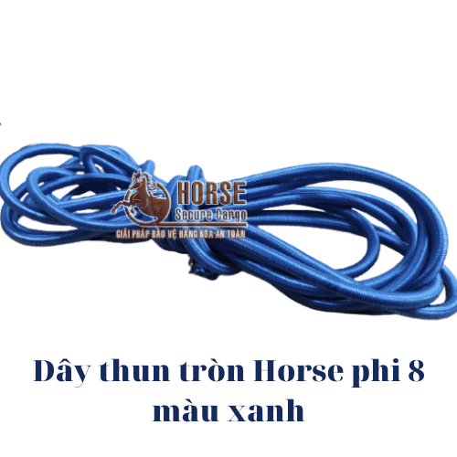 Dây thun tròn Horse màu xanh phi 8 - Horse Secure Cargo