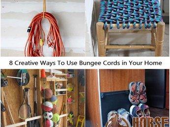 8 Cách sáng tạo để sử dụng dây thun tròn chằng hàng - Bungee Cords