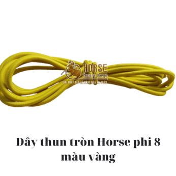 Dây thun tròn Horse màu vàng phi 8
