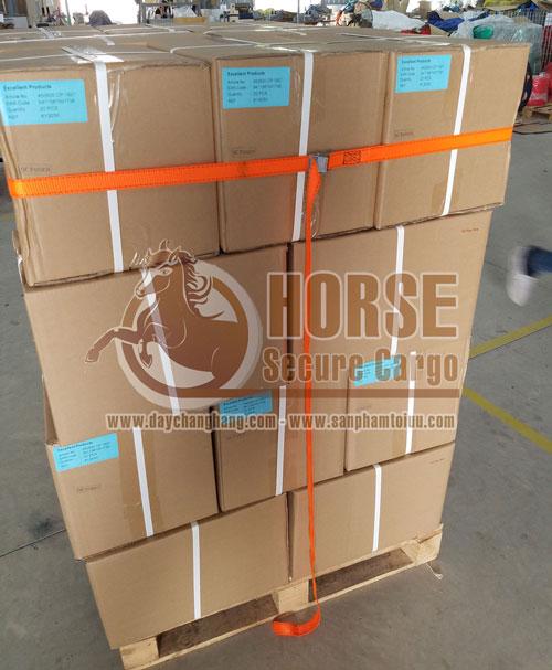 Dây chằng khóa cam Horse bảo vệ hàng hóa trên pallet thay thế màng PE