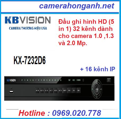 Đầu ghi hình 32 kênhHD (5 in 1)KBVISION KX-7232D6