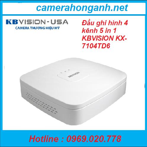 Đầu ghi hình 4 kênh 5 in 1 KBVISION KX-7104TD6