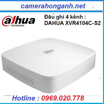 Đầu ghi hình HDCVI/TVI/AHD và IP 4 kênh DAHUA XVR4104C-S2