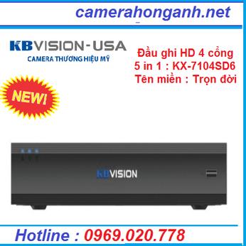Đầu ghi hình 4 kênhHD 5 in 1 KBVISION KX-7104SD6