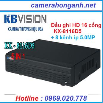 ● Đầu ghi hình 16 kênh HD (5 in 1)KX-8116D5+8 kênh IP