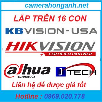 Trọn bộ 16 camera