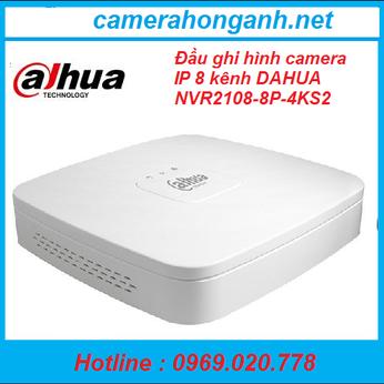 Đầu ghi hình camera IP 8 kênh DAHUA NVR2108-8P-4KS2