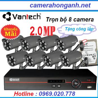 Trọn bộ 8 camera 2.0 MP