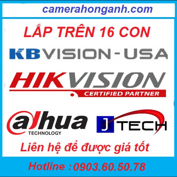 Trọn bộ 16 camera 1.0 MP