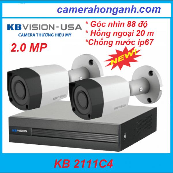 Trọn Bộ 02 Camera KB-VISION 2.0 MP Thương Hiệu Mỹ (USA)