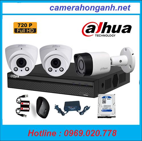 Trọn bộ 3 camera Dahua