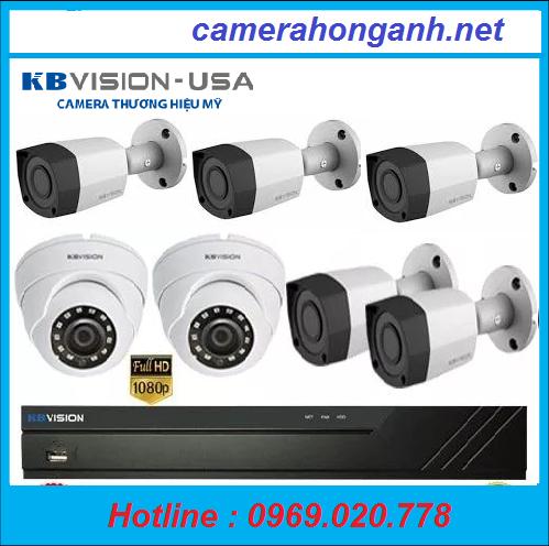 Trọn bộ 7 camera Kb