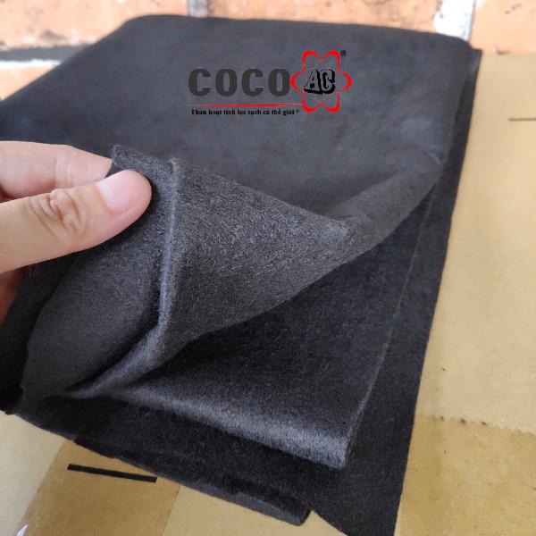 Tấm lọc than hoạt tính 2mm (1 mét vuông)