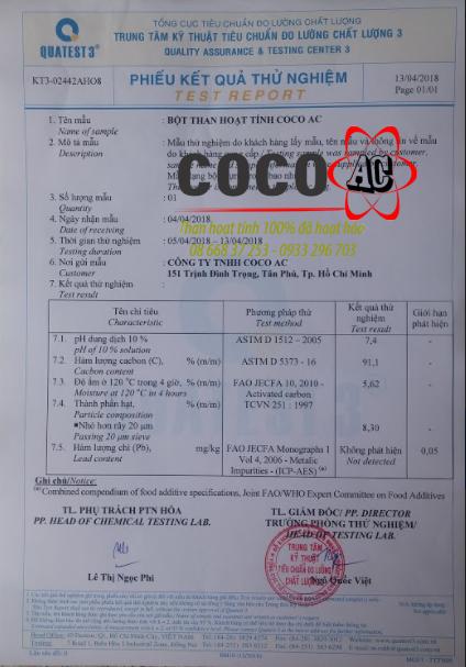Than hoạt tính bột COCO AC