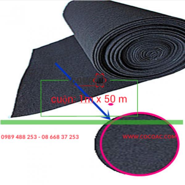 Vải than hoạt tính 2 mm loại 1 (đặc điểm dễ rách)