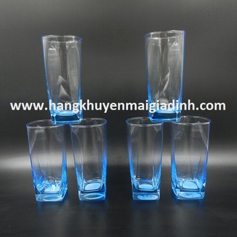 BỘ 6 LY THỦY TINH LUMINARC BLUE LEAF