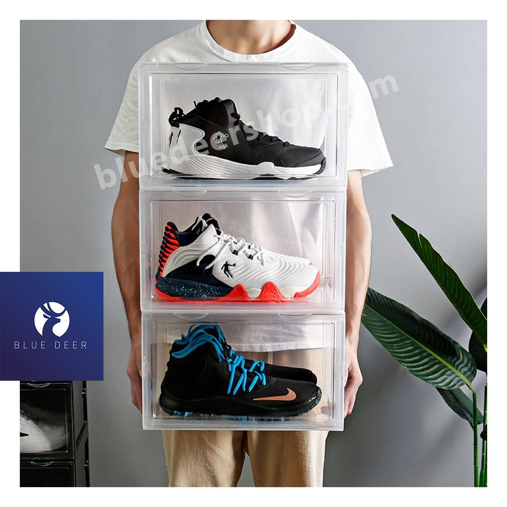 Hộp đựng giày Nhựa Cứng Size Lớn cao 21.5CM - BLUE DEER