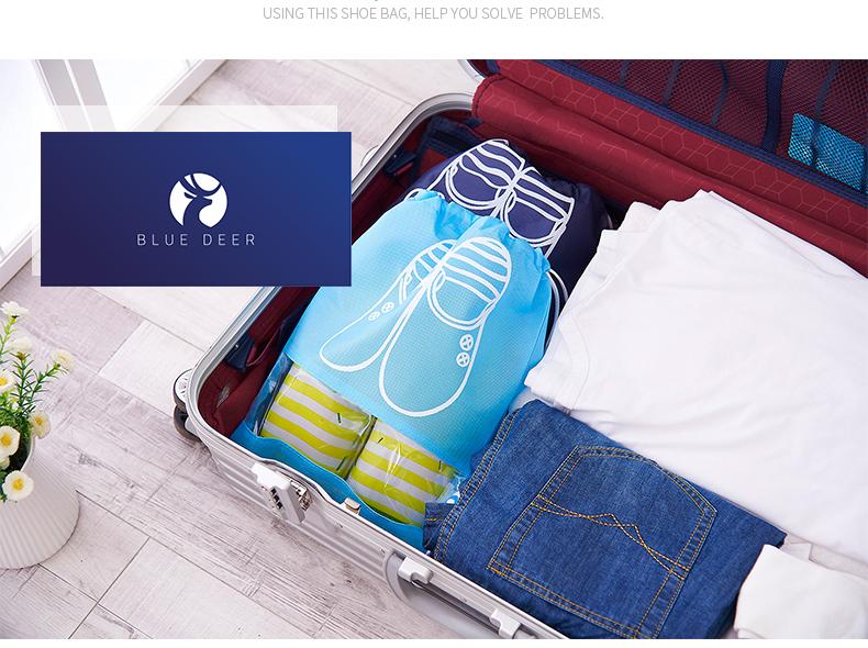 Túi vải đựng giày dép thể thao có 2 kích thước: size L (44*32)cm