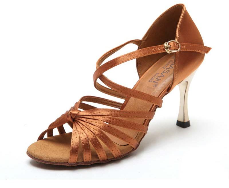Giày satin nữ gót màu vàng - Tinh tế - Sang trọng - Giá tốt